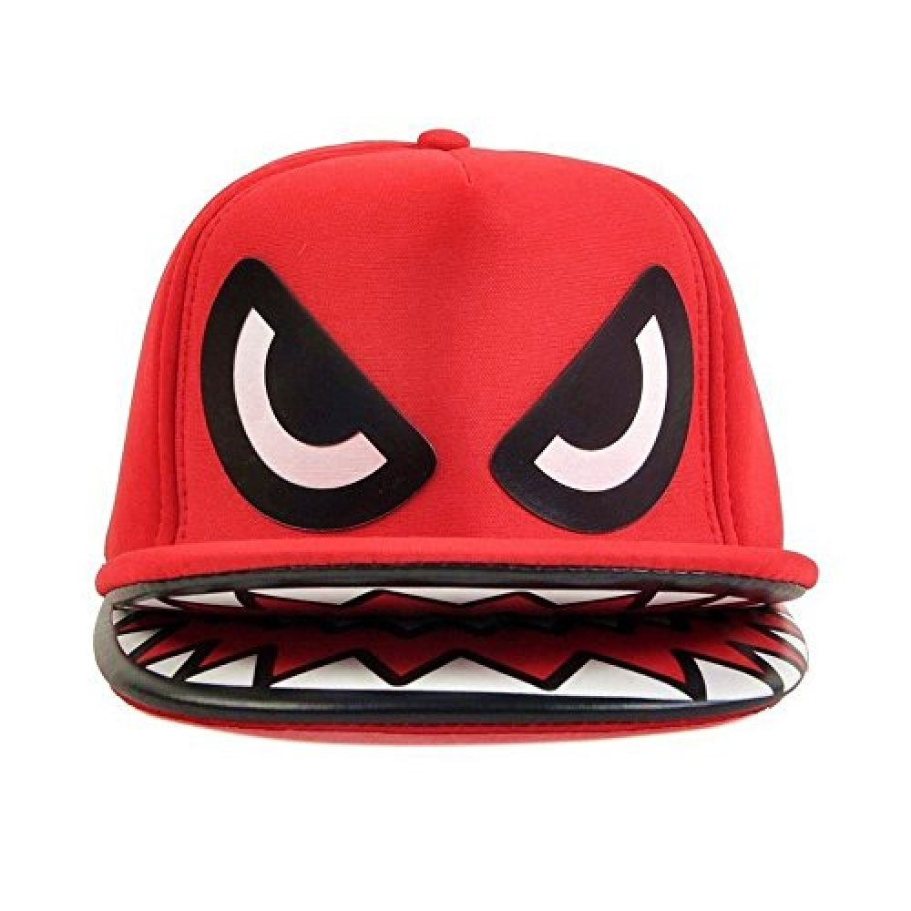 202885e98cf AStorePlus Shark Mouth Teeth Selling Double Brim Stylish Hip Hop Snapback  Cap Baseball Hat ...