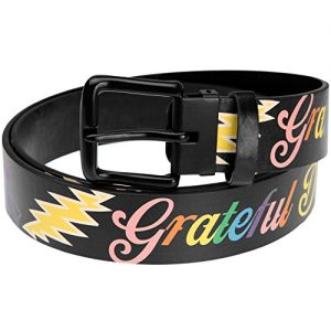 5a5aed8afc Grateful Dead – Mens Grateful Dead – Bears And Bolts Leather Belt Black ...