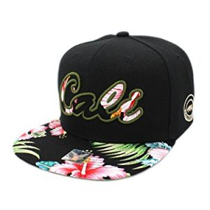 828d77316d3 LAFSQ Embroidered Cali Star Snapback Hawaiian Flower