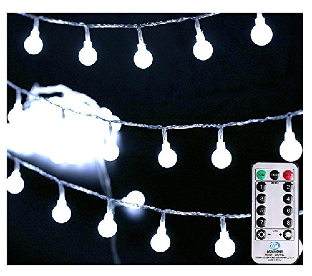 Globe String Lights With Clear Bulbs Backyard Patio Lights Hanging Indoor Outdoor String Lights For Bistro Pergola Deckyard Tents Market Decor