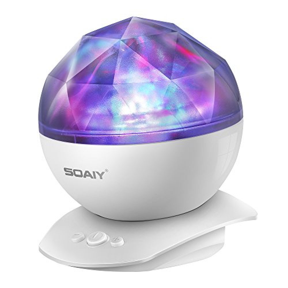 Aurora Night Light Projector Lights Soaiy 8 Changing Aurora And 360 Rotatable 1h Auto Closes Built In Speaker For Kids Or Adults To Sleep